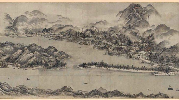 天橋立図(雪舟筆)[京都国立博物館]