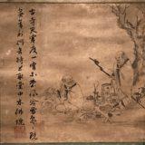 禅機図断簡(丹霞焼仏図)因陀羅筆[石橋財団]