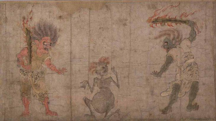 餓鬼草紙(絵十図・河本本)[東京国立博物館]