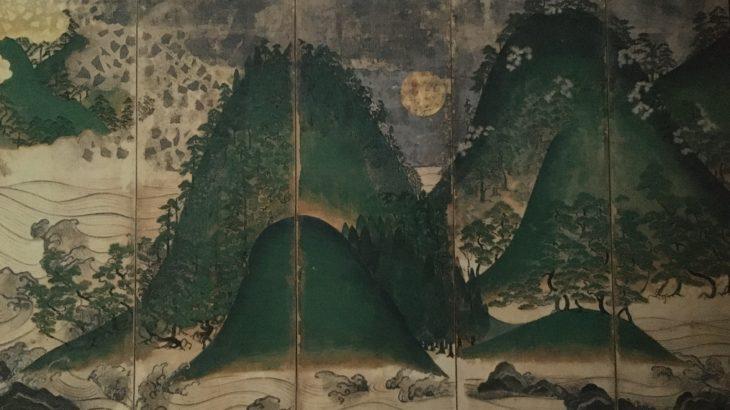 日月四季山水図屏風[金剛寺/大阪]